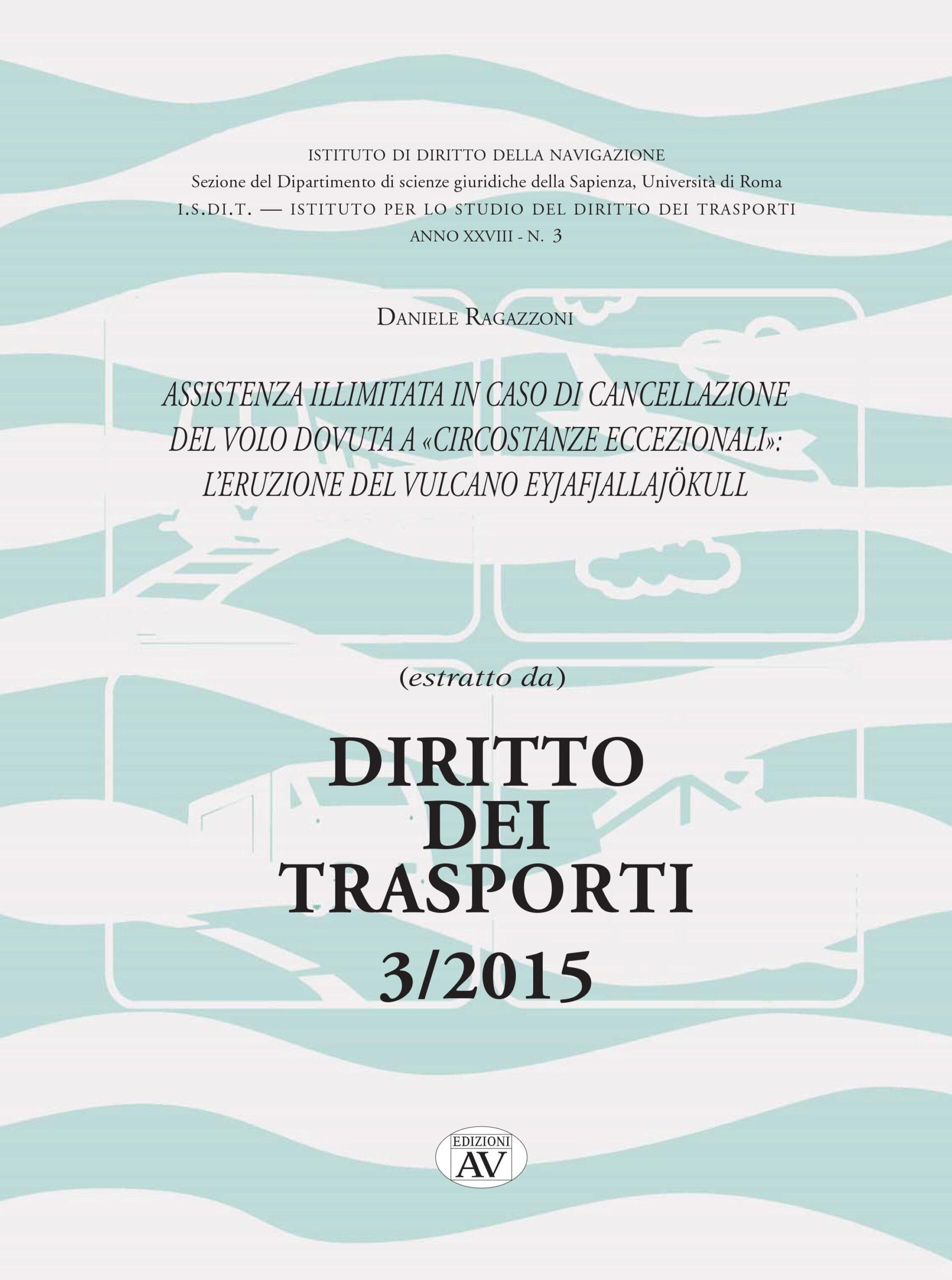 Estratti Dir. Trasp. 3/2015